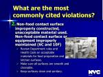 what are the most commonly cited violations38