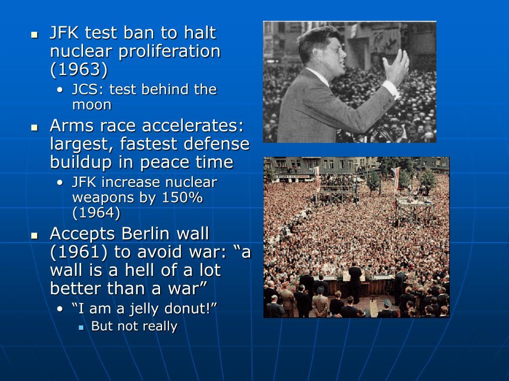 JFK test ban to halt nuclear proliferation (1963)