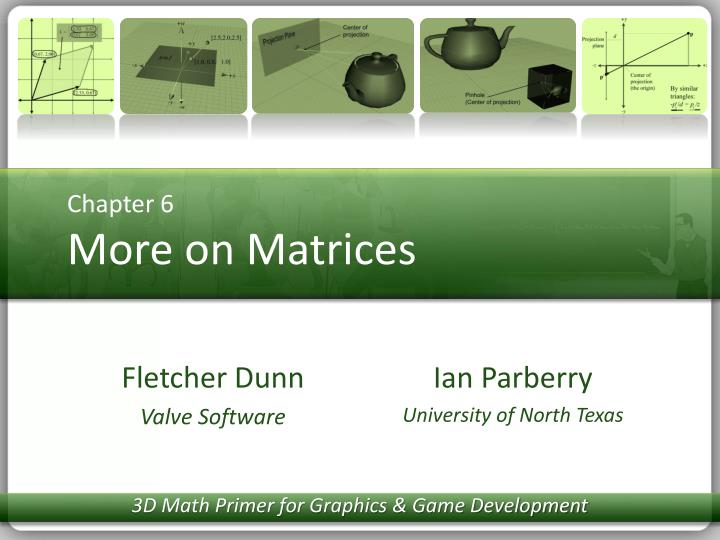 chapter 6 more on matrices n.