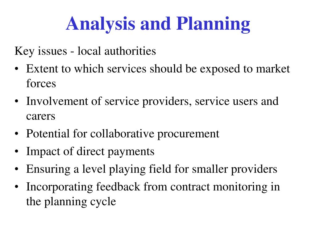 Key issues - local authorities