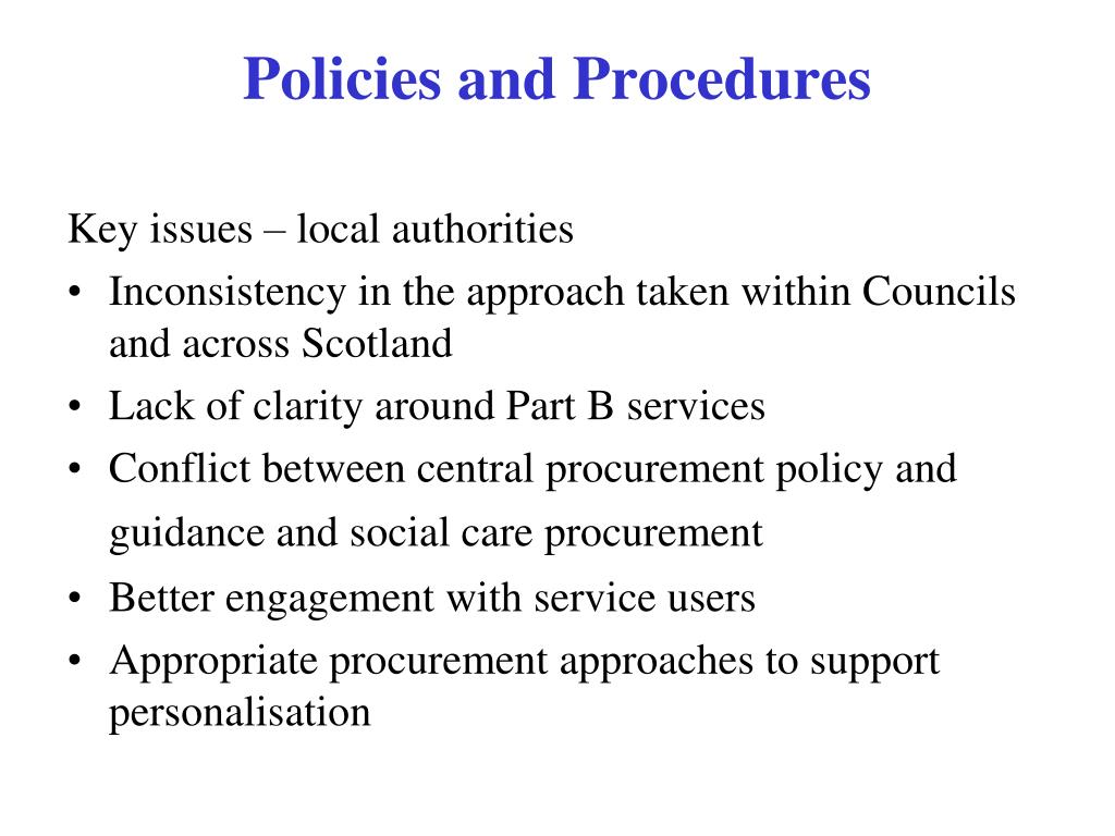 Key issues – local authorities
