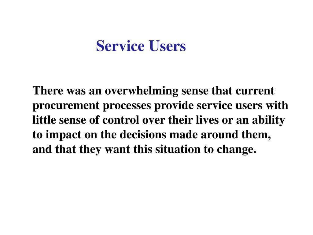 Service Users
