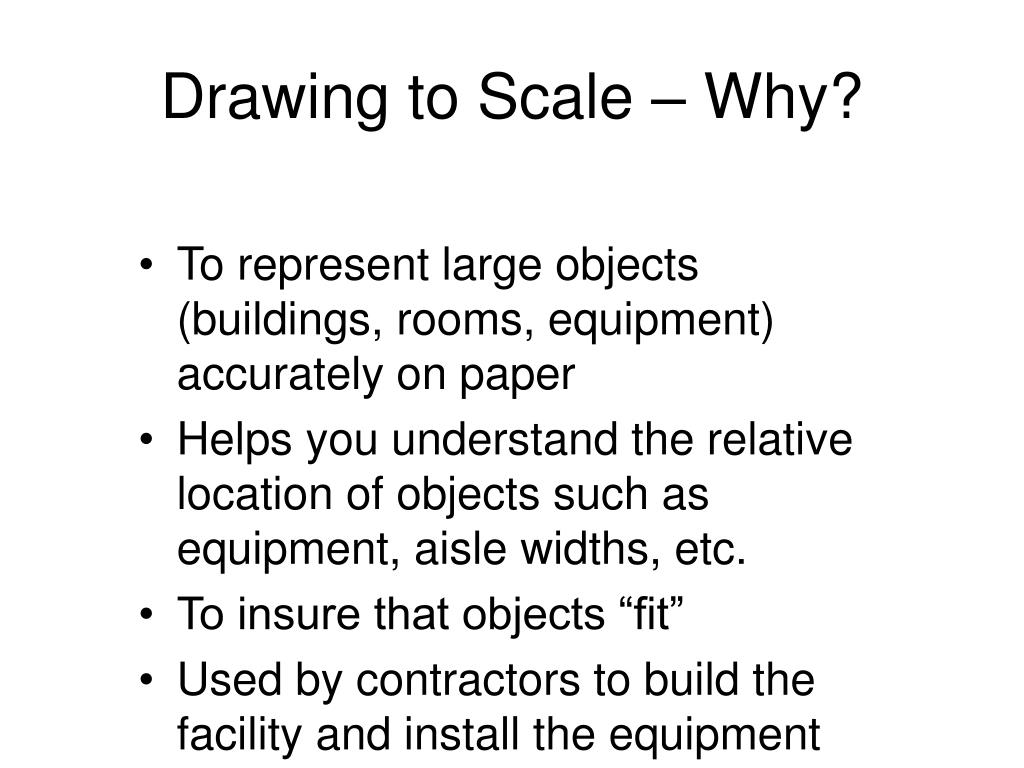 Drawing to Scale – Why?