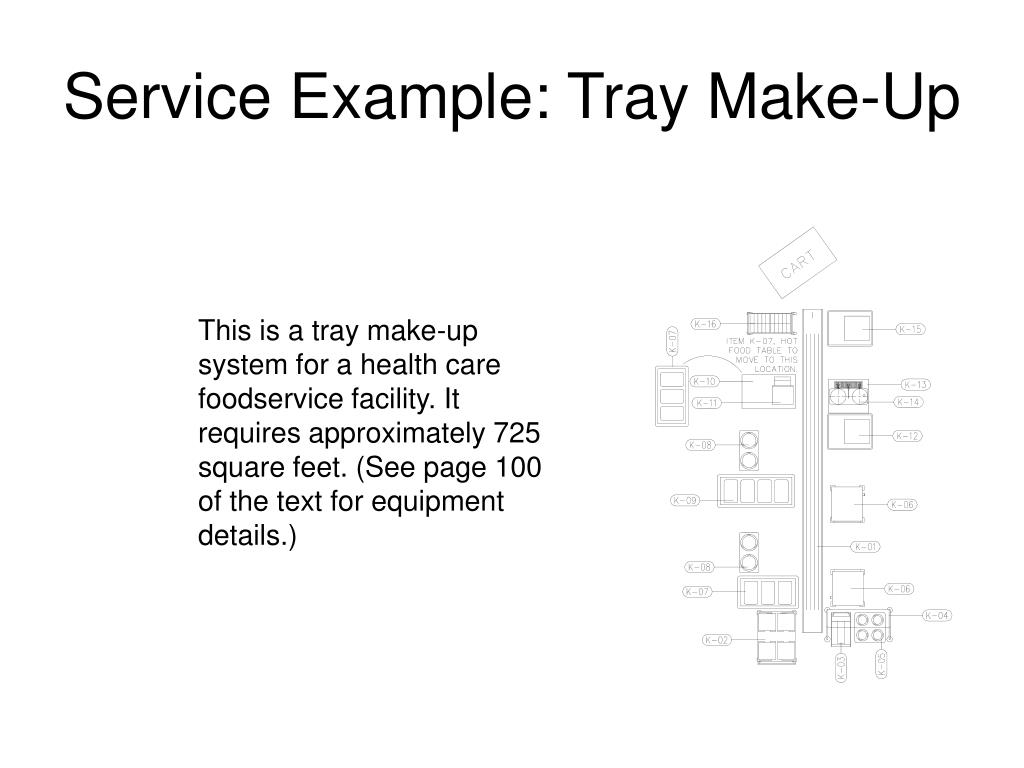 Service Example: Tray Make-Up