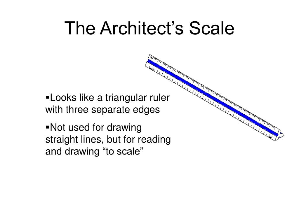 The Architect's Scale