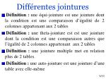 diff rentes jointures