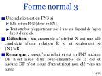 forme normal 3