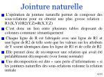 jointure naturelle