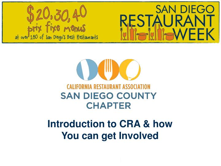 Introduction to cra how you can get involved