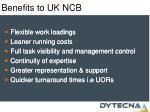 benefits to uk ncb