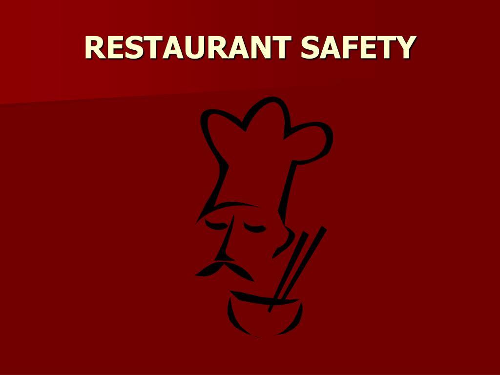 restaurant safety l.