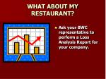 what about my restaurant