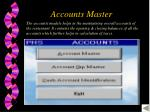 accounts master