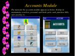 accounts module
