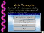 daily consumption