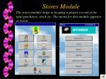 stores module