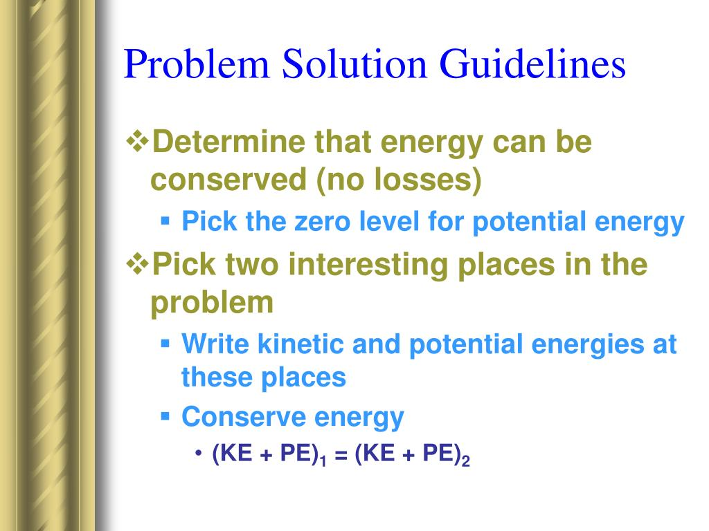Problem Solution Guidelines