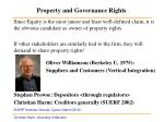 property and governance rights