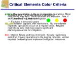 critical elements color criteria
