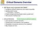 critical elements overview