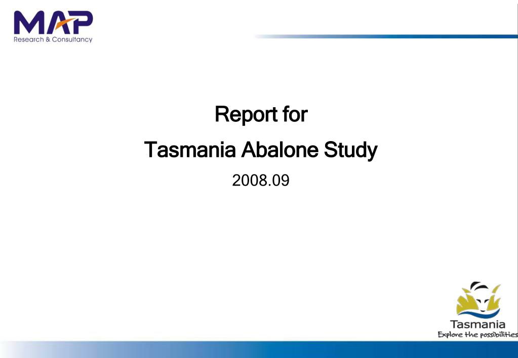 report for tasmania abalone study 2008 09 l.
