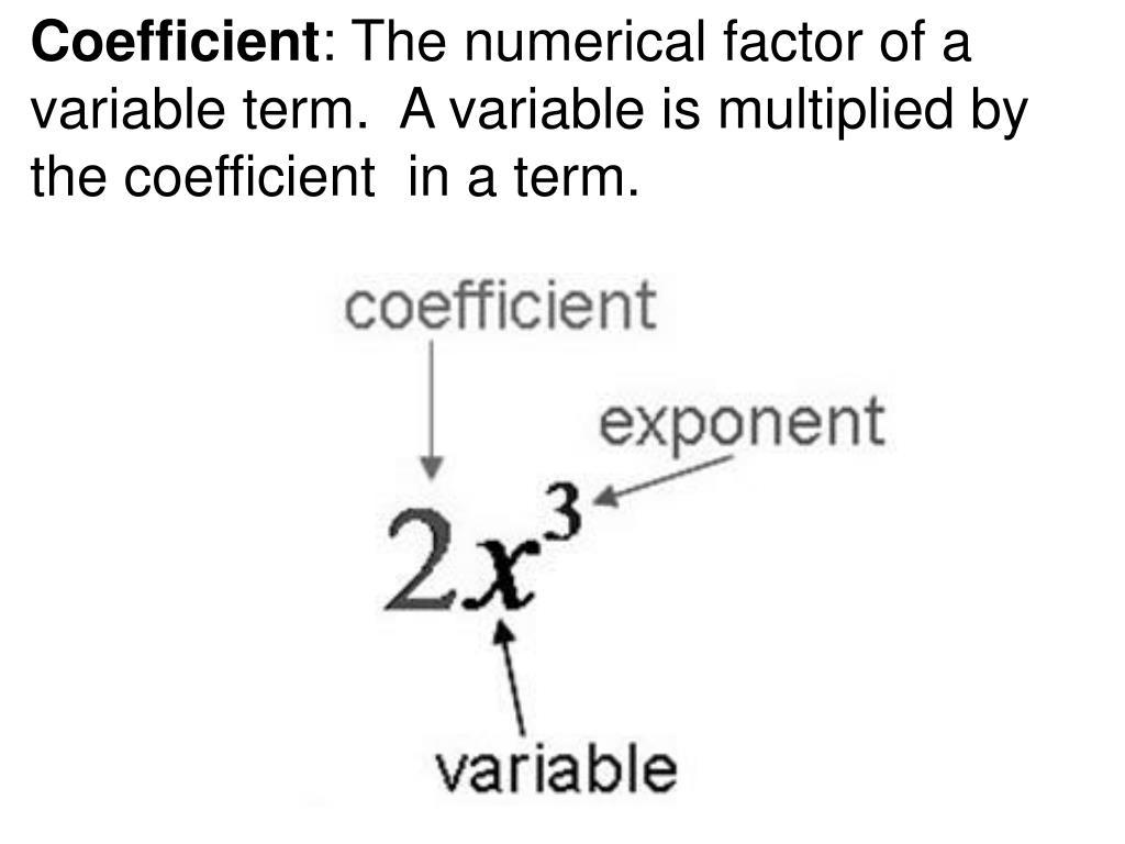 Coefficient