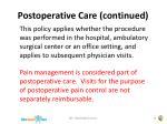 postoperative care continued14