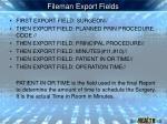 fileman export fields