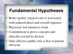fundamental hypotheses