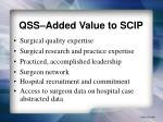qss added value to scip