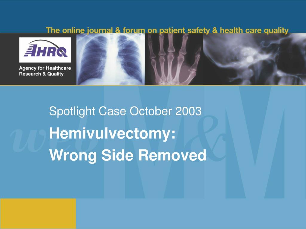 spotlight case october 2003 l.