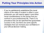 putting your principles into action