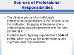 sources of professional responsibilities