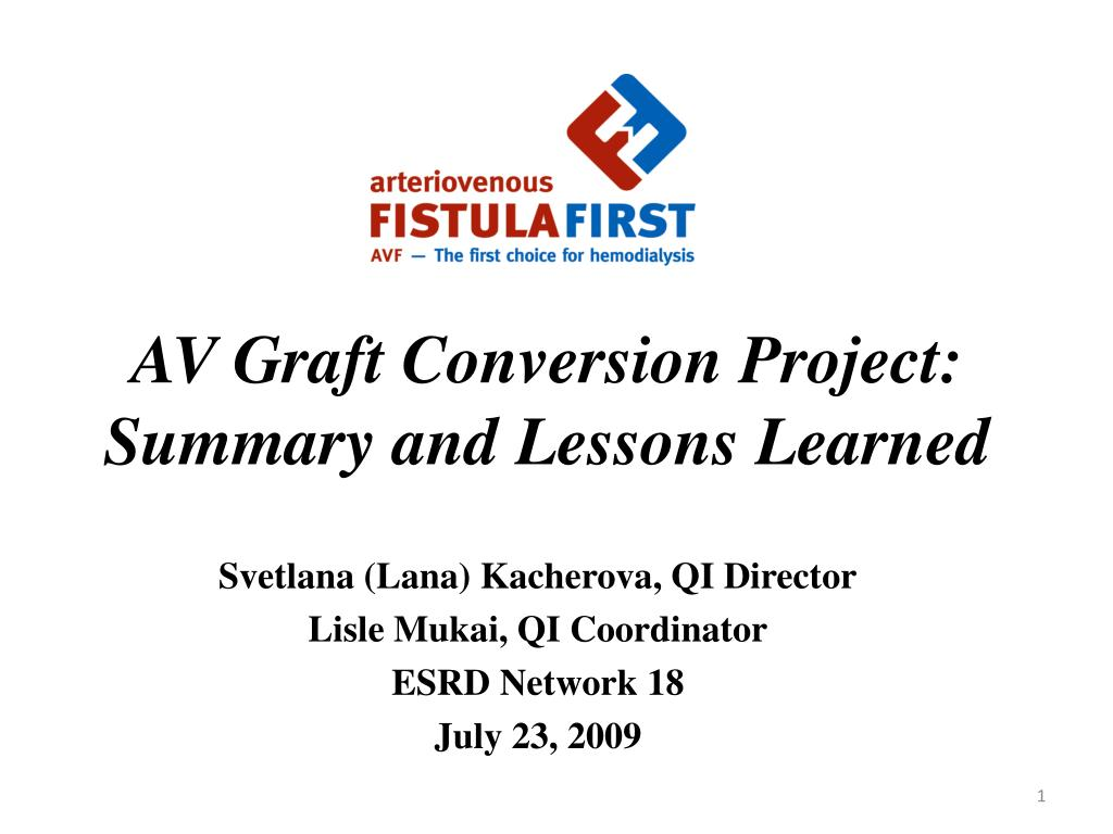 av graft conversion project summary and lessons learned l.