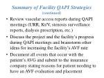 summary of facility qapi strategies continued20