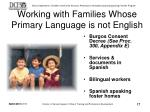 working with families whose primary language is not english
