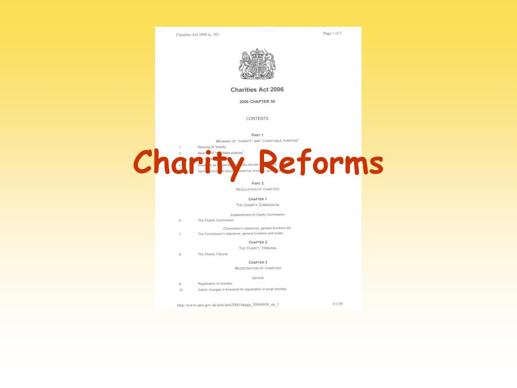 charity reforms l.