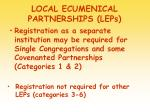 local ecumenical partnerships leps