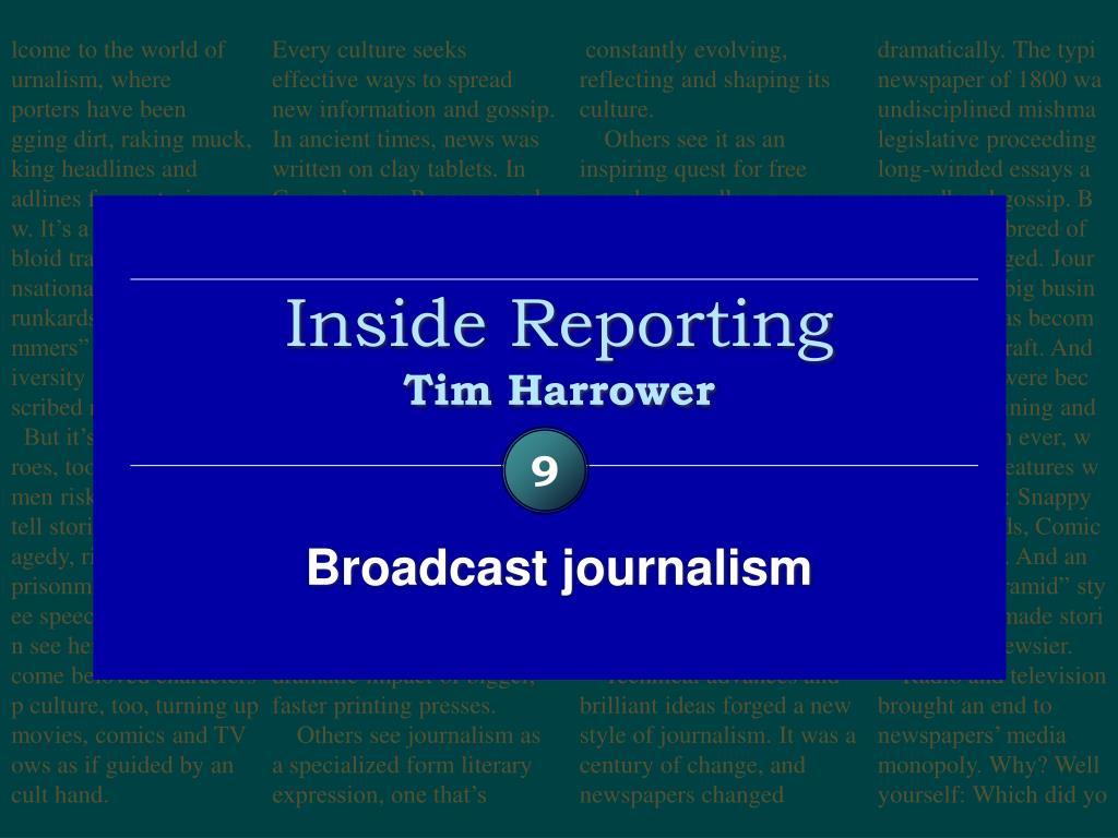 inside reporting tim harrower l.