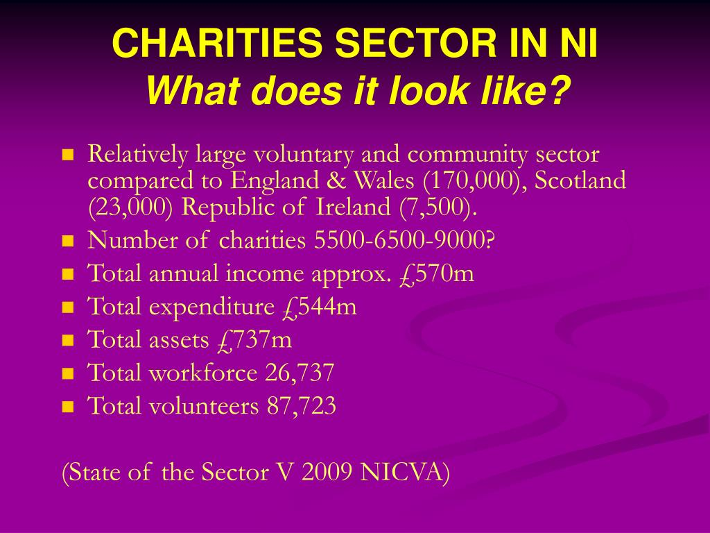CHARITIES SECTOR IN NI