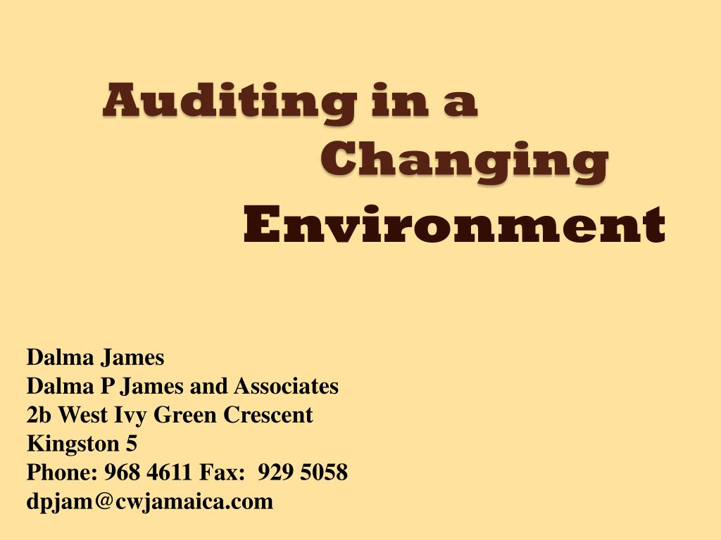 auditing in a changing l.