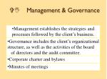 vi management governance