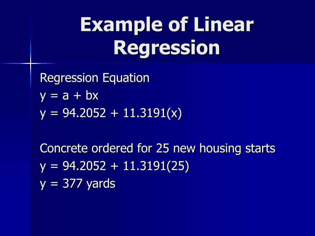Example of Linear Regression