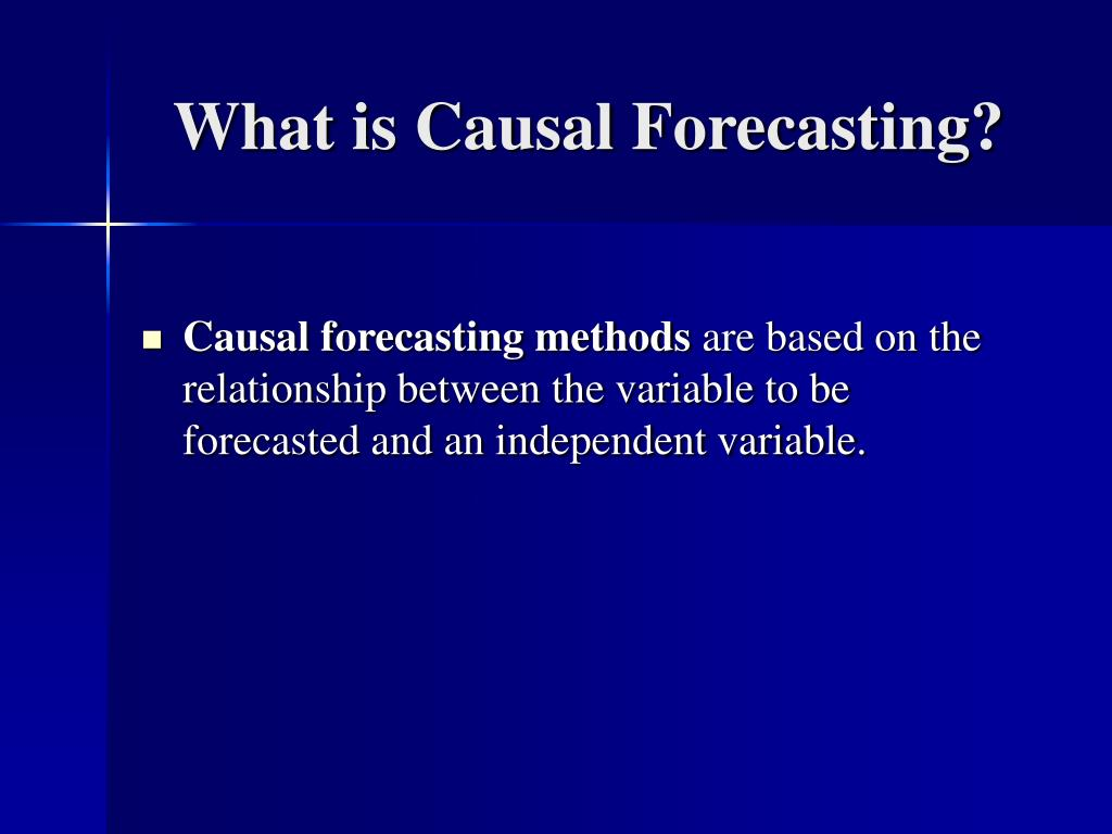 What is Causal Forecasting?
