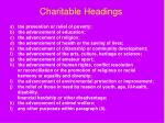 charitable headings