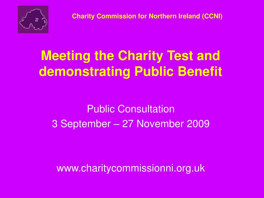 meeting the charity test and demonstrating public benefit l.