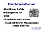 don t forget other law