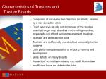 characteristics of trustees and trustee boards