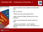 charities bill outcome of scrutiny 1