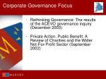 corporate governance focus31